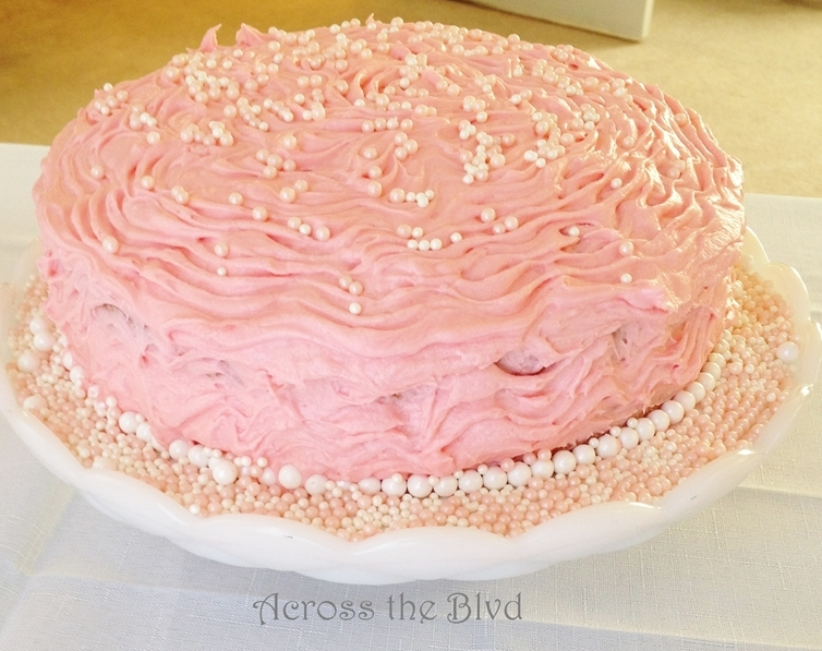 Pink Champagne Cake Across the Blvd