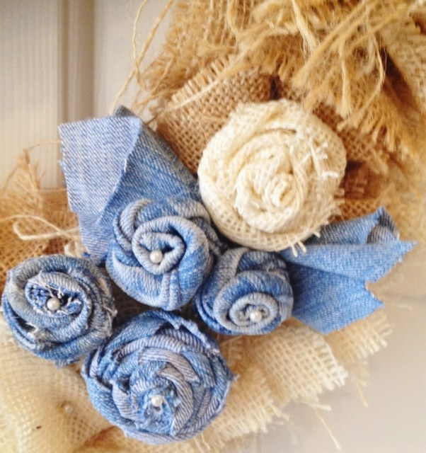 Denim Rosettes