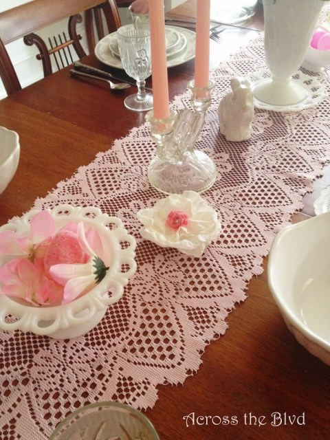 Easter Tablescape~Mixing Vintage Treasures With DIY Decor