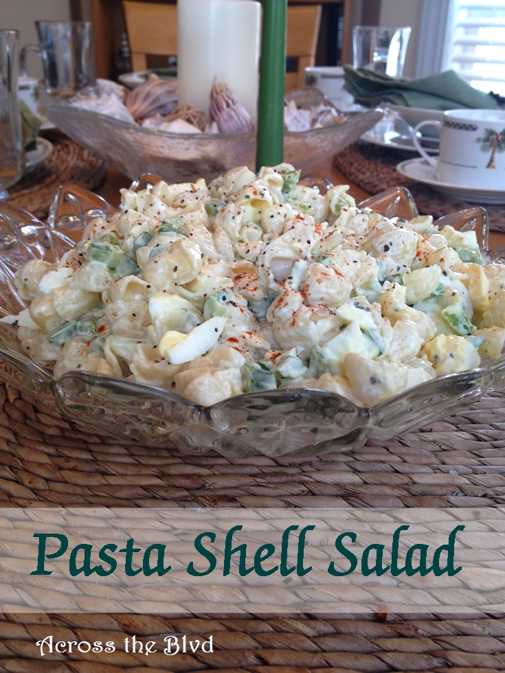 Pasta Shell Salad Across the Blvd