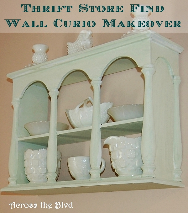 WALL CURIO MAKEOVER WITH DIY CHALK PAINT