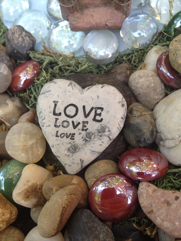 Love Stepping Stone in Fairy Garden
