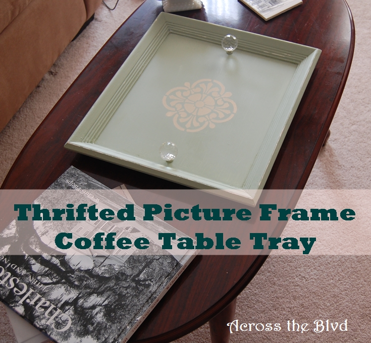 Thrifted Picture Frame Coffee Table Tray Across the Blvd
