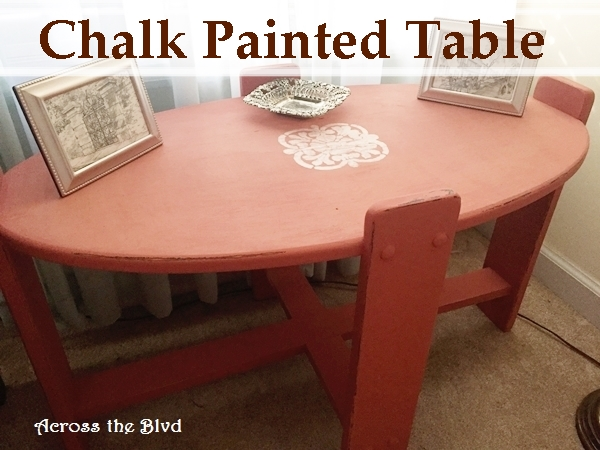 Side Table Makeover in Coral Chalk Paint