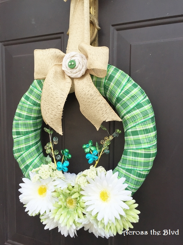 St Patricks Day Wreath Across the Blvd Front Door