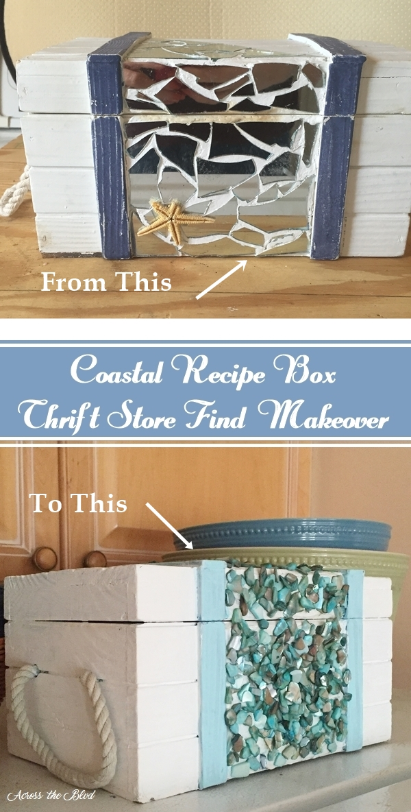 Recipe Box - Thrift Store Find Makeover