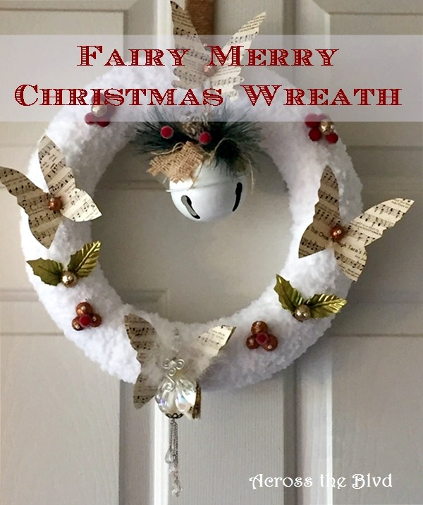 Fairy Christmas Snow Wreath