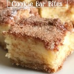 Snickerdoodle Cookie Bar Bites Across the Blvd