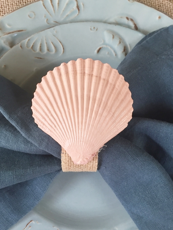 Coastal Tablescape & Sea Shell Napkin Rings