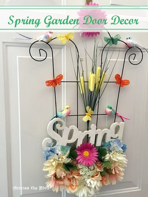 Spring Garden Door Decor