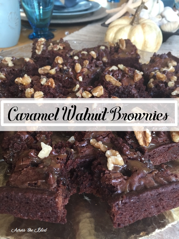 Caramel Walnut Brownies Across the Blvd