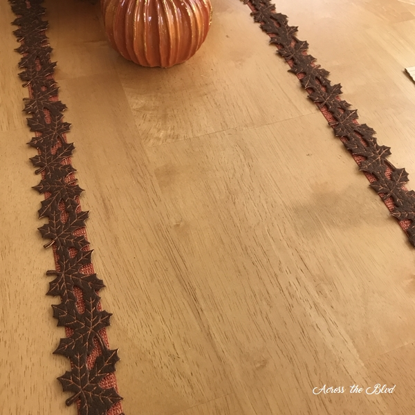 Casual Fall Tablescape With Copper Accents-Ribbon strips
