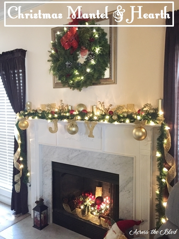 Christmas Mantel and Hearth Across the Blvd