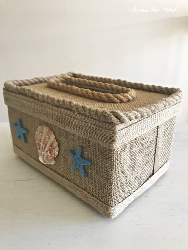 Coastal Box for Saving Receipts with Shells