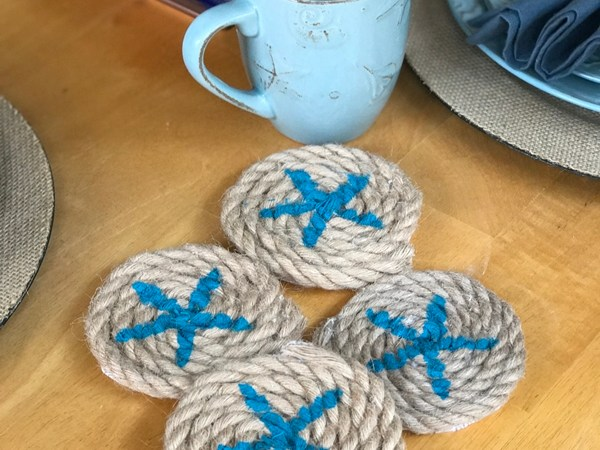 Coastal Starfish Rope Coasters