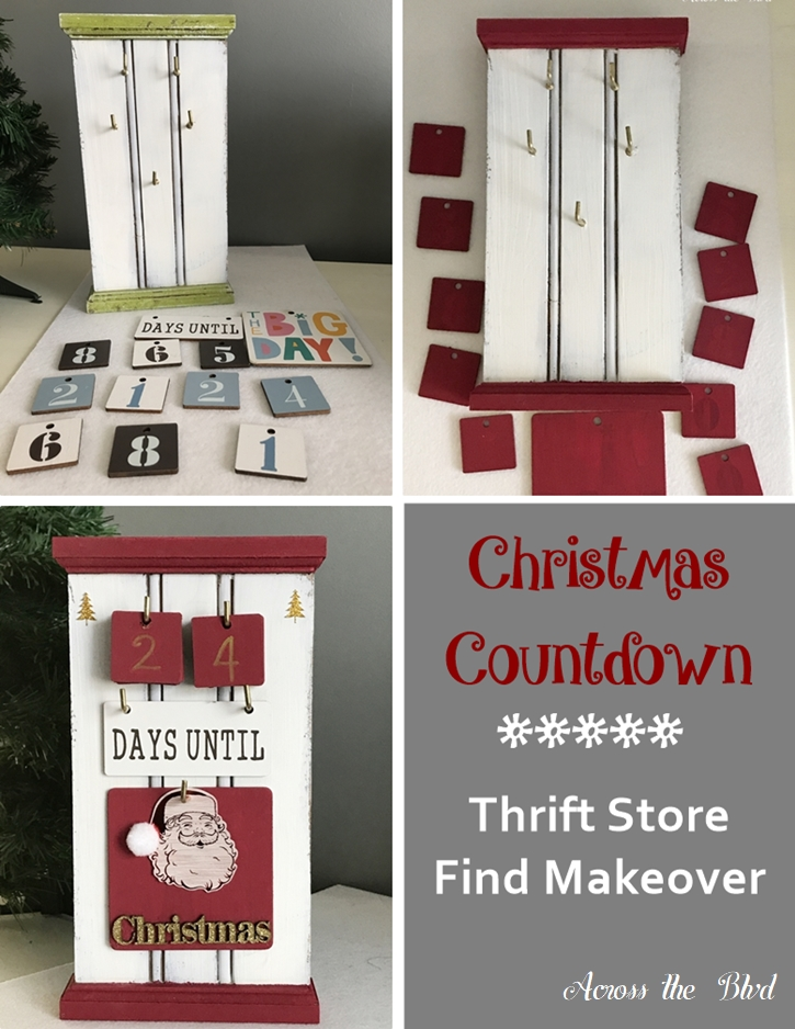 Christmas Countdown Thrift Store Find Makeover Across the Boulevard