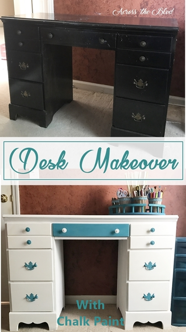Desk Makeover With Chalk Paint Across the Boulevard