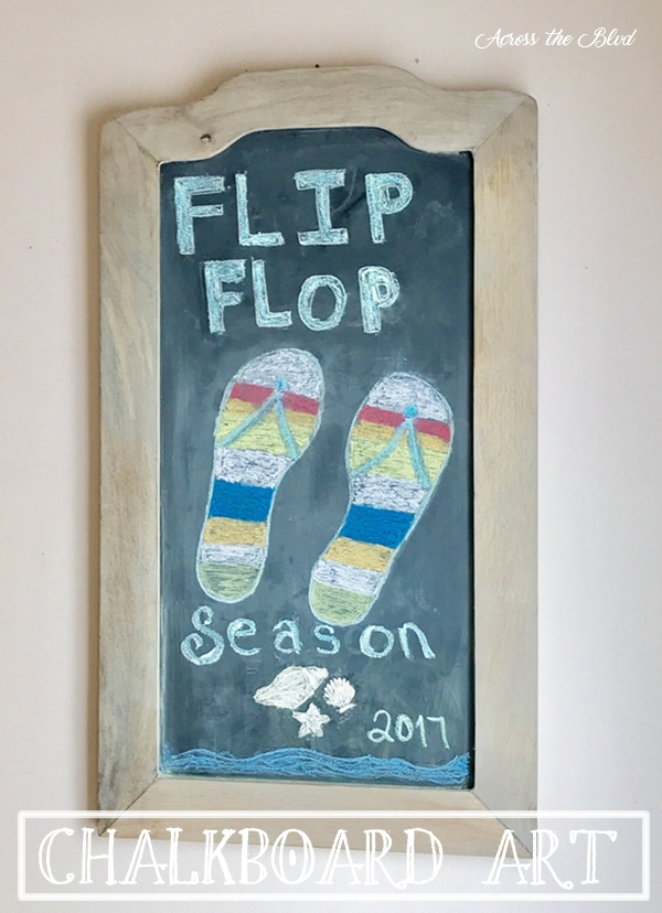 Easy Flip Flop Chalkboard Art Across the Blvd
