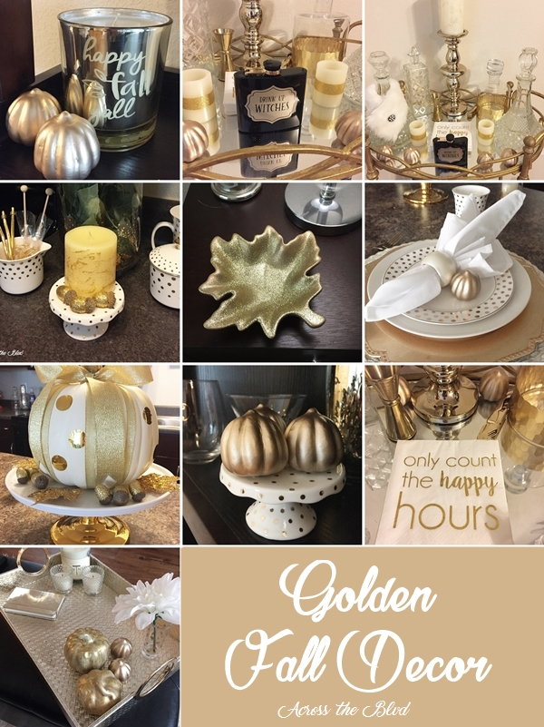 Golden Fall Decor