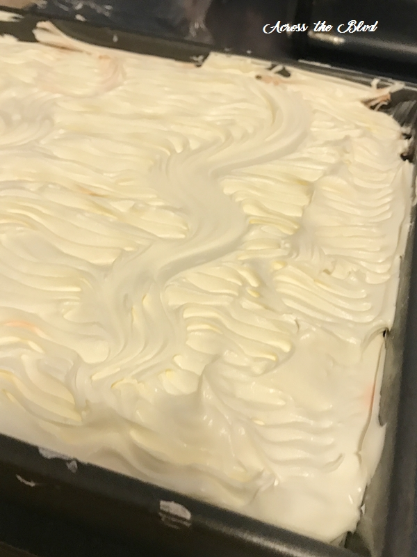 Pudding Cake Cool Whip Layer