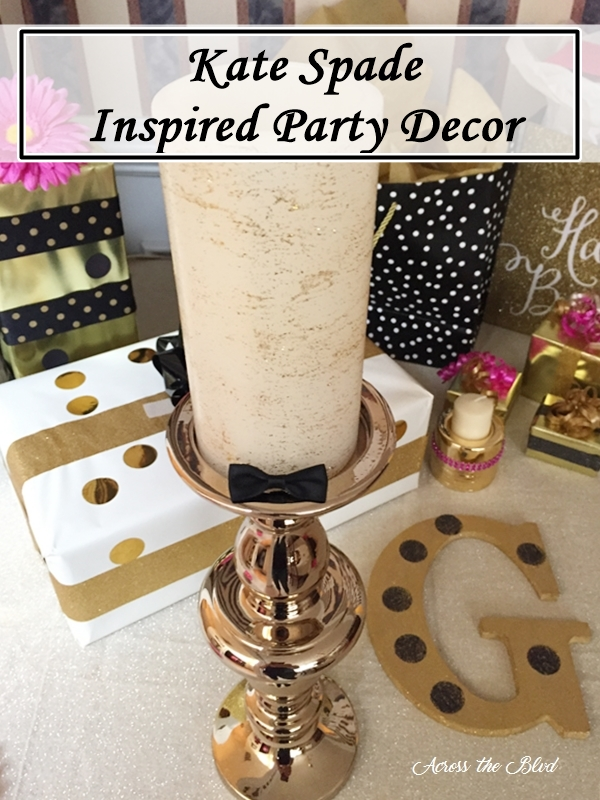 Kate Spade Inspired Birthday Party Decor