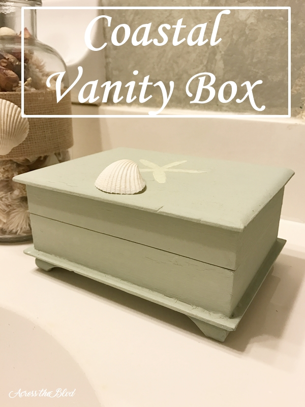 Coastal Vanity Box ~ Thrift Store Find Makeover Across the Blvd