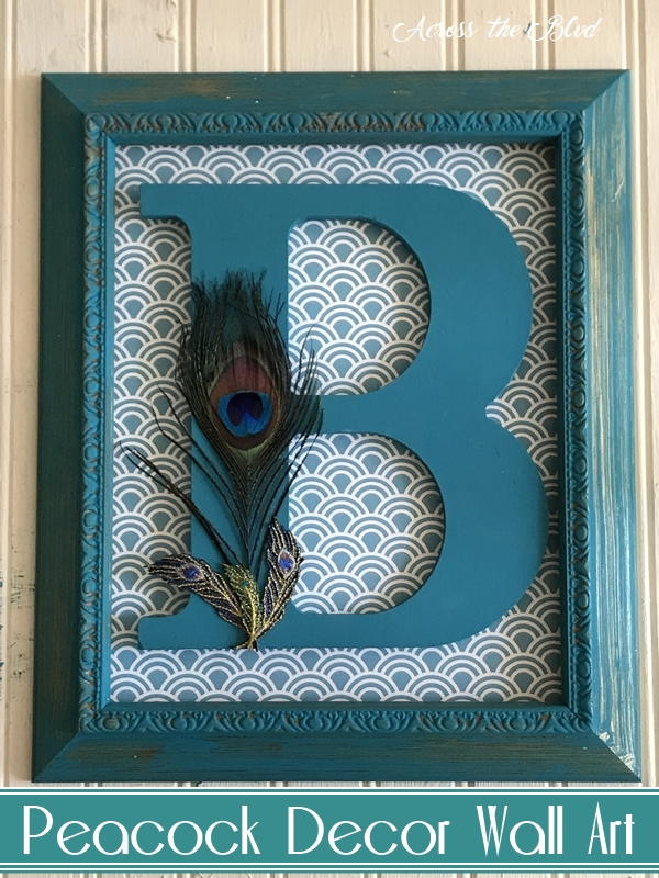 Personalized Peacock Decor Wall Art