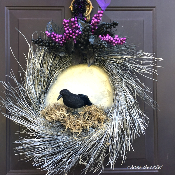 Raven Halloween Wreath Across the Blvd