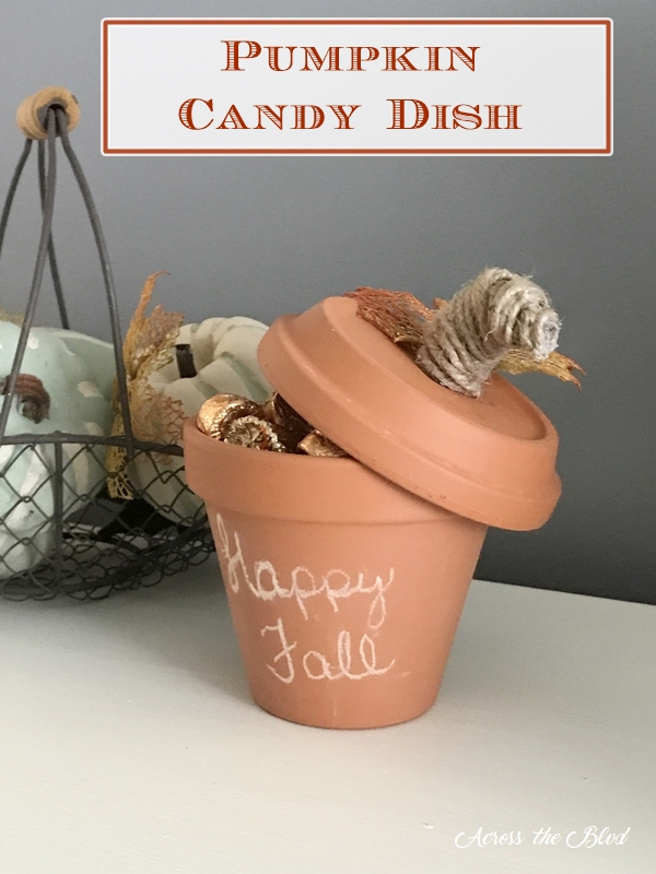 Five Minute DIY Pumpkin Candy Dish