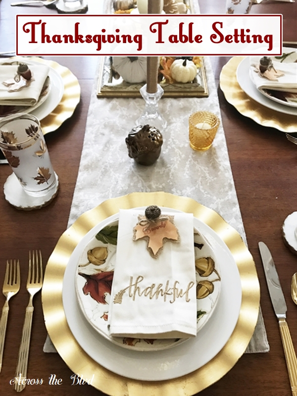 Thanksgiving Table Setting With DIY Place Cards