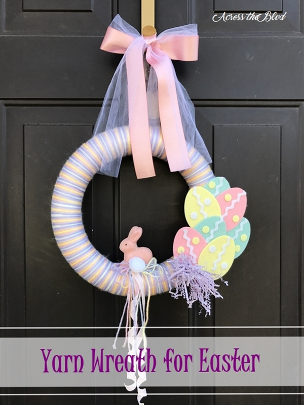 Yarn Wreath for Easter