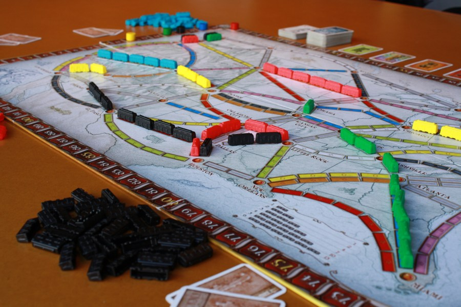 Ticket to Ride in play