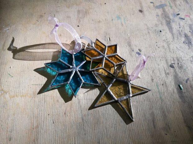 decorazioni natalizie in vetro