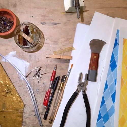 strumenti necessari per recupero vetrate artistiche