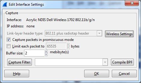 Wireshark NDIS WiFi interface detail on Windows