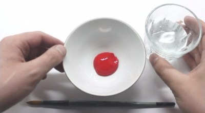 Acrylverf verdunnen