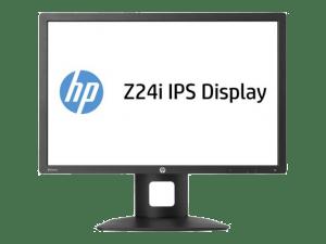 HP Z24i Monitor hardware screen