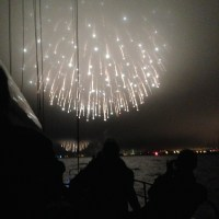 fourth of July Charter and fireworks on San Francisco Bay