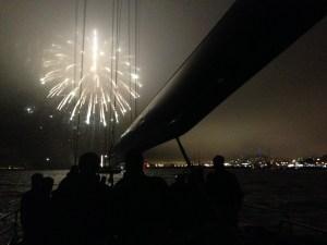 Fireworks aboard USA76 on SF Bay | ACsailingSF