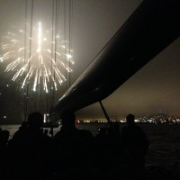 Fireworks aboard USA76 on SF Bay | ACsailingSF