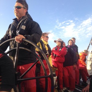 Public sails on San Francisco Bay on America's Cup Yacht USA 76