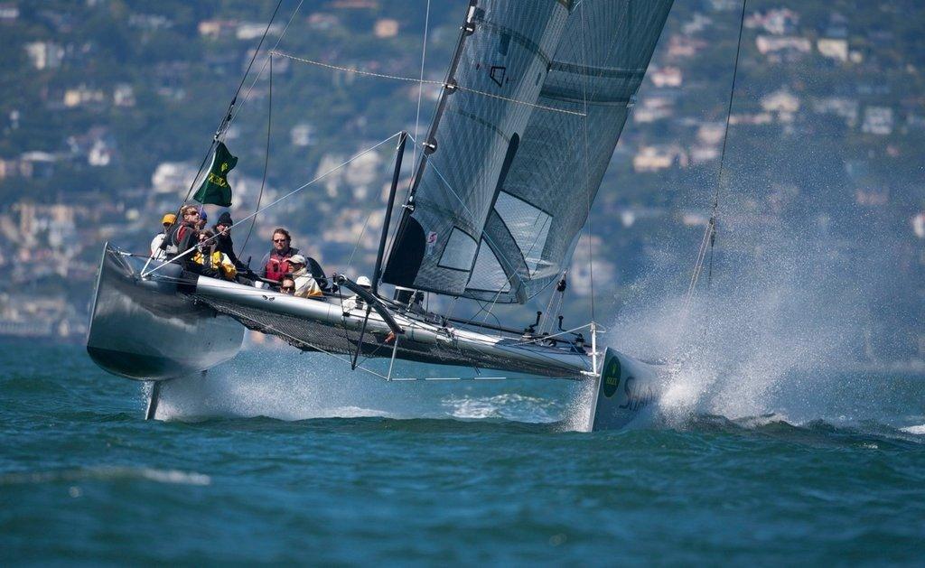 Prosail40 Cat Racing on San Francisco Bay