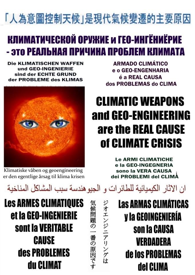 Les ARMES CLIMATIQUES et le GEO-INGENIERIE sont la VERITABLE CAUSE des PROBLEMES du CLIMAT