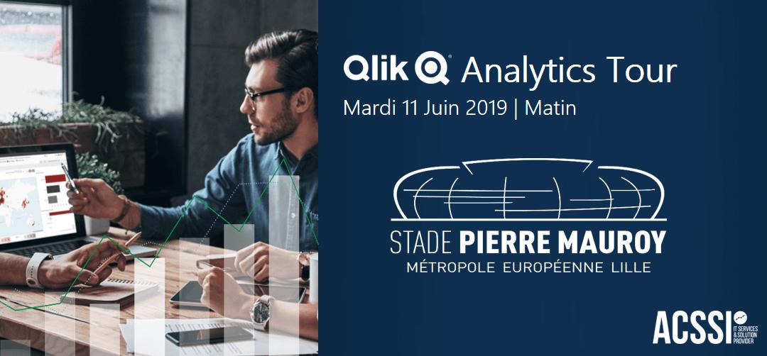 Qlik Analytics Tour de Lille – le Mardi 11 Juin 2019 – Stade Pierre Mauroy – Qlik Sense Event