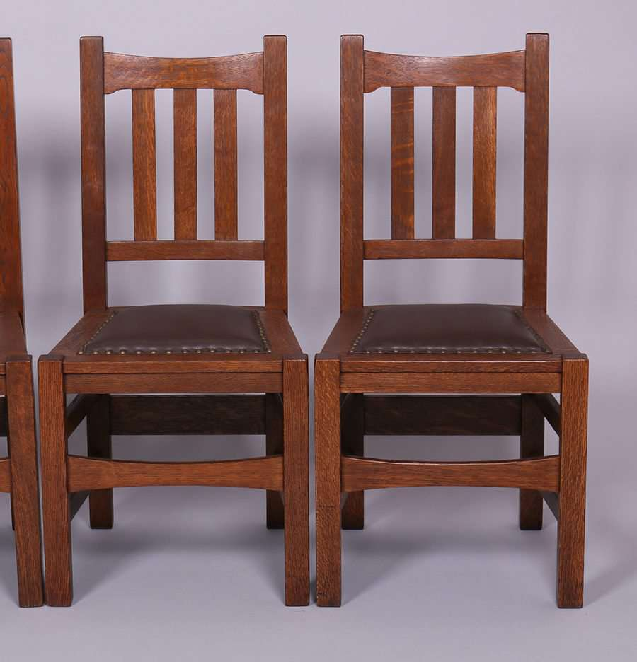 Set Of 4 Stickley Brothers 379 12 Dining Chairs