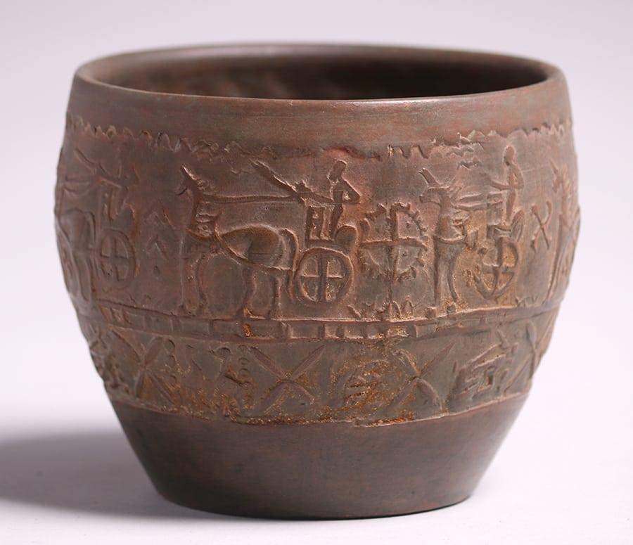 Merrimac Pottery Etruscan Vase C1902 1903 California