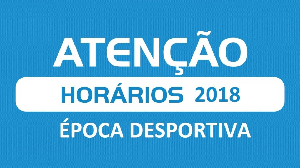 Horários Época Desportiva 2018