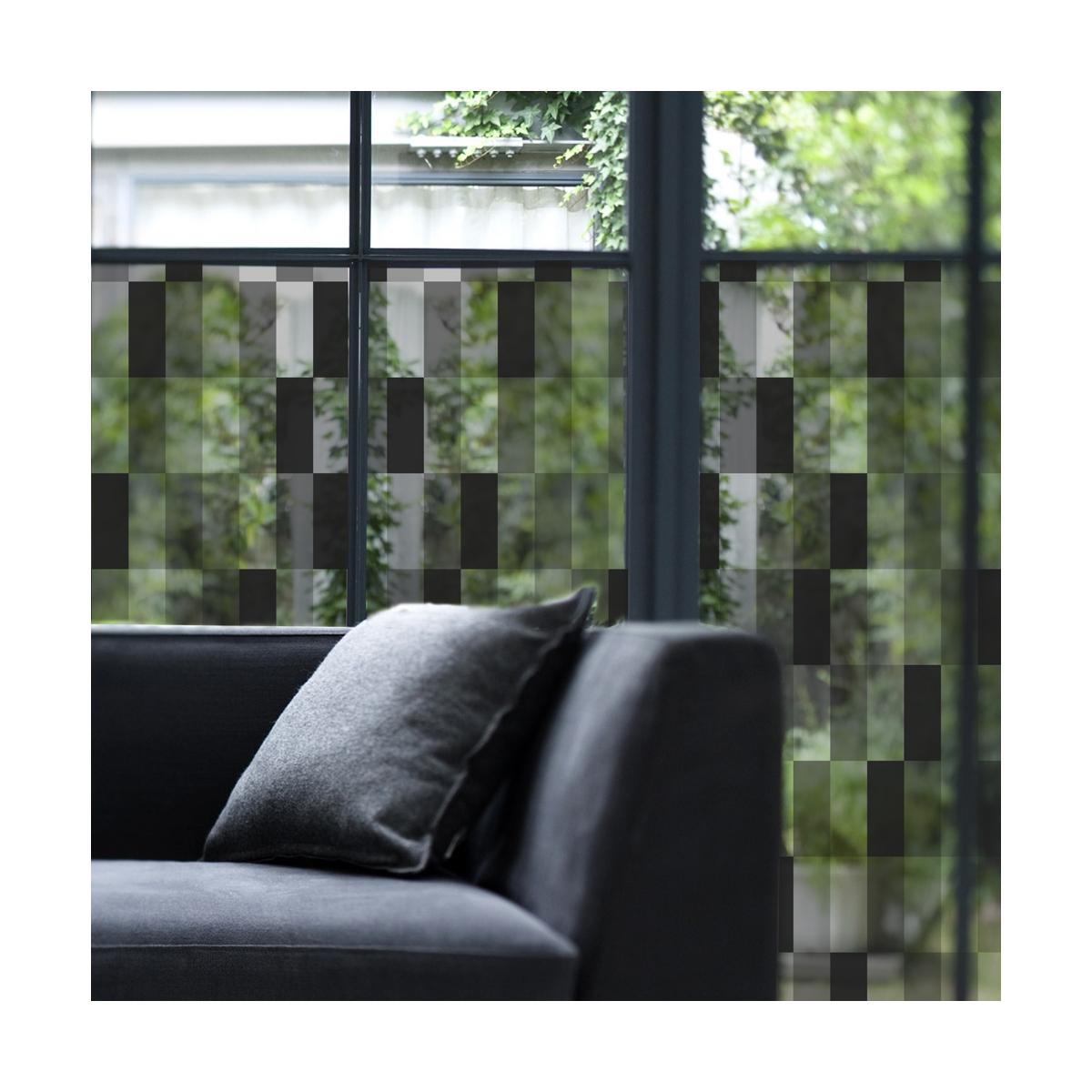 vitrail noir film decoratif pour vitres