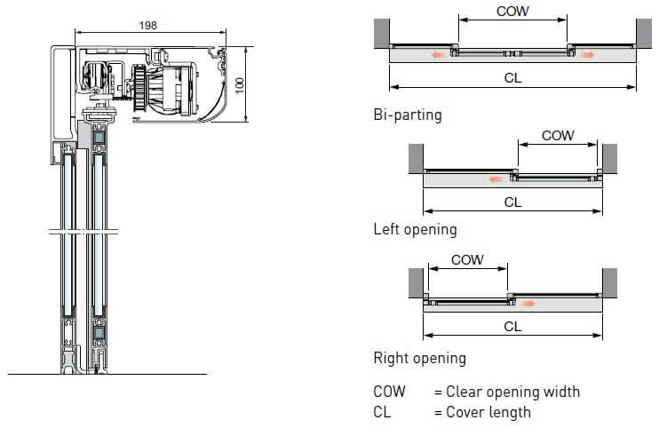 ACSL10 Sliding Door Diagram