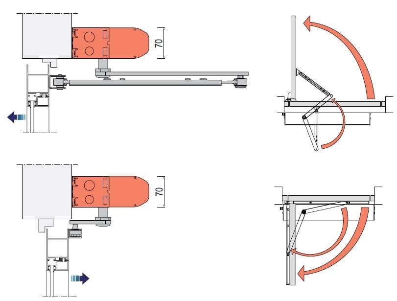 ACSW30 Swing Door Diagram